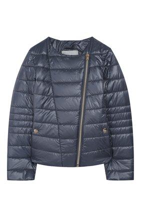Детская стеганая куртка HERNO голубого цвета, арт. GI0030G/12017/10A-14A | Фото 1