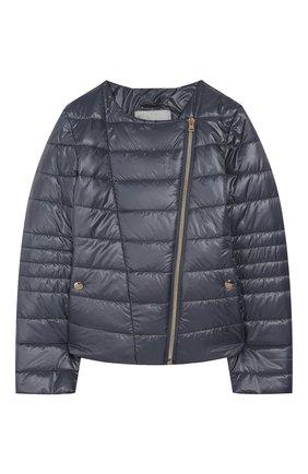 Детская стеганая куртка HERNO голубого цвета, арт. GI0030G/12017/4A-8A | Фото 1