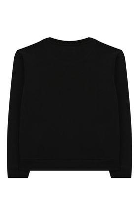 Детский хлопковый свитшот EMPORIO ARMANI черного цвета, арт. 3H4M61/1J36Z   Фото 2