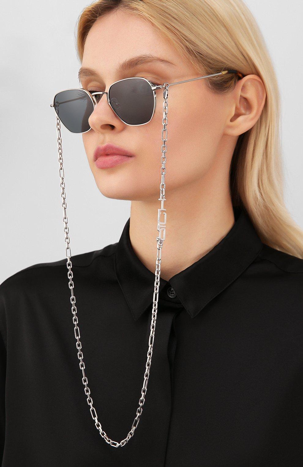 Женские солнцезащитные очки ALESSANDRA RICH серебряного цвета, арт. AR1C3 SUN   Фото 2