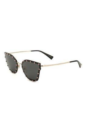 Женские солнцезащитные очки VALENTINO черного цвета, арт. 2028-300387 | Фото 1