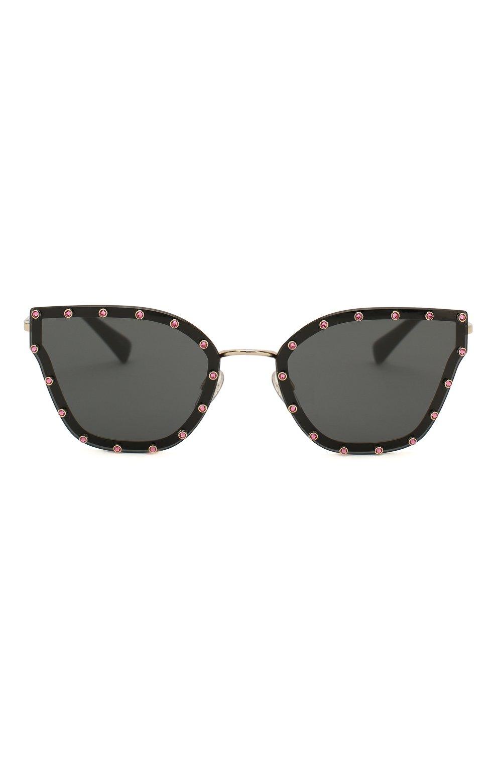 Женские солнцезащитные очки VALENTINO черного цвета, арт. 2028-300387 | Фото 3