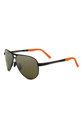 Мужские солнцезащитные очки PORSCHE DESIGN черного цвета, арт. 8649-G | Фото 1