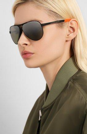Мужские солнцезащитные очки PORSCHE DESIGN черного цвета, арт. 8649-G | Фото 2