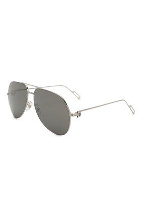 Женские солнцезащитные очки CARTIER серебряного цвета, арт. CT0110 013 | Фото 1