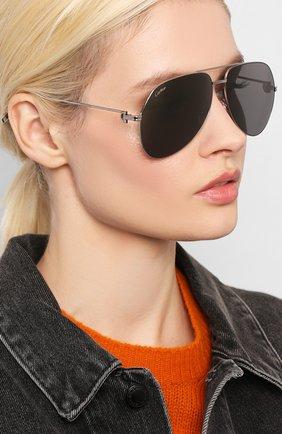 Женские солнцезащитные очки CARTIER серебряного цвета, арт. CT0110 013 | Фото 2