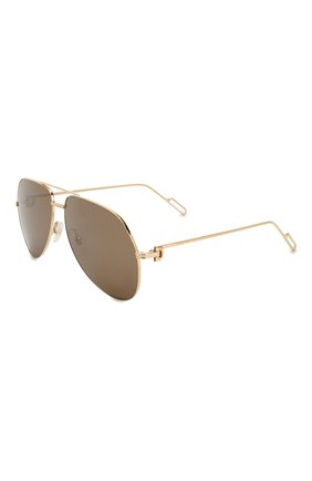 Женские солнцезащитные очки CARTIER золотого цвета, арт. CT0110 014 | Фото 1
