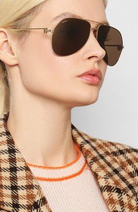 Женские солнцезащитные очки CARTIER золотого цвета, арт. CT0110 014 | Фото 2