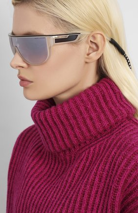 Мужские солнцезащитные очки MARC JACOBS (THE) прозрачного цвета, арт. MARC 410 2M4 | Фото 2