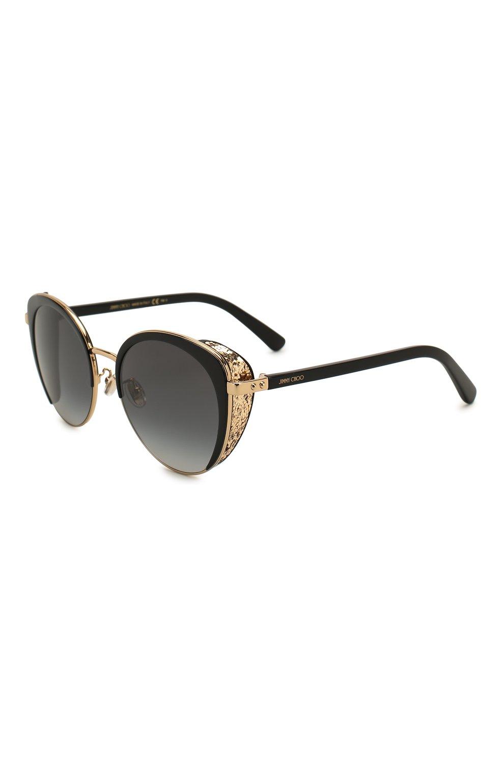 Женские солнцезащитные очки JIMMY CHOO черного цвета, арт. GABBY/F 2M2 | Фото 1