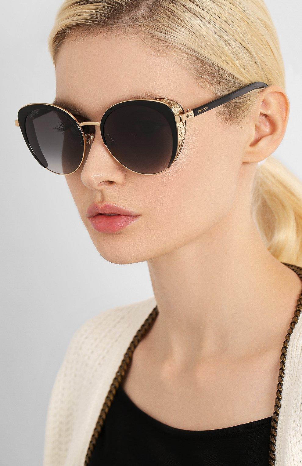 Женские солнцезащитные очки JIMMY CHOO черного цвета, арт. GABBY/F 2M2 | Фото 2