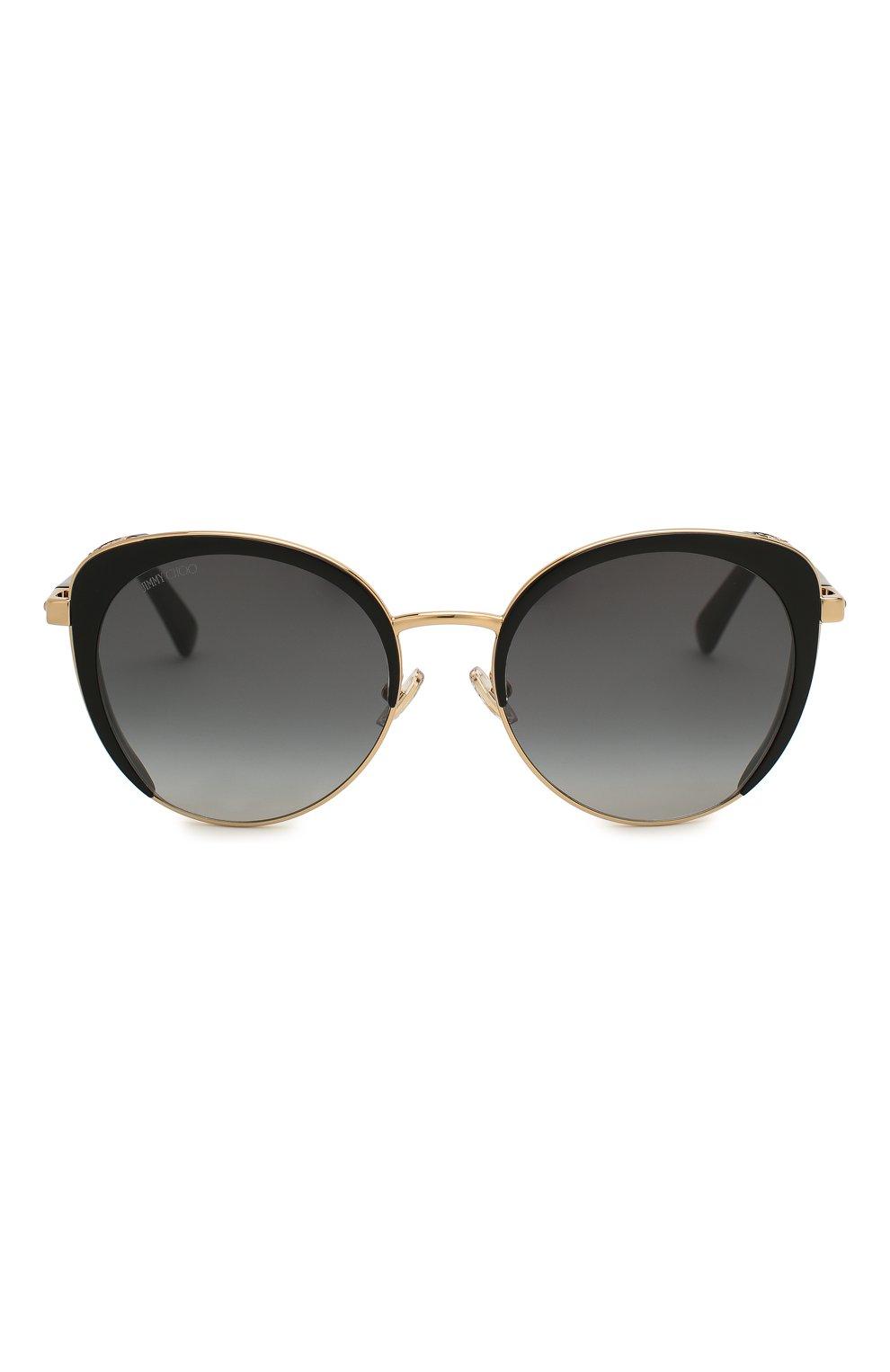Женские солнцезащитные очки JIMMY CHOO черного цвета, арт. GABBY/F 2M2 | Фото 3