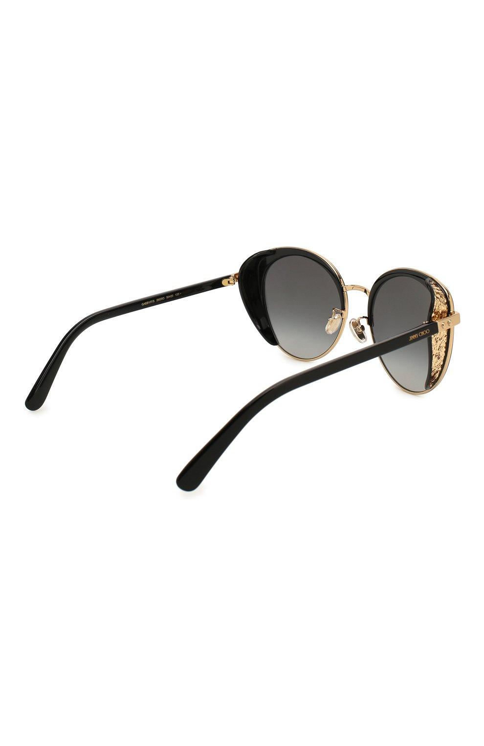 Женские солнцезащитные очки JIMMY CHOO черного цвета, арт. GABBY/F 2M2 | Фото 4