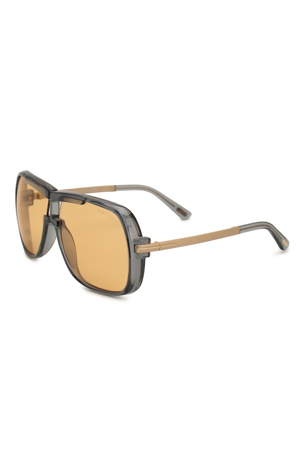 Женские солнцезащитные очки TOM FORD оранжевого цвета, арт. TF800 20E | Фото 1