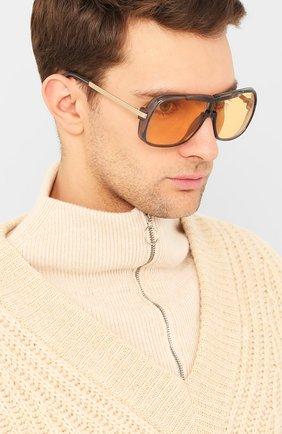 Женские солнцезащитные очки TOM FORD оранжевого цвета, арт. TF800 20E | Фото 3