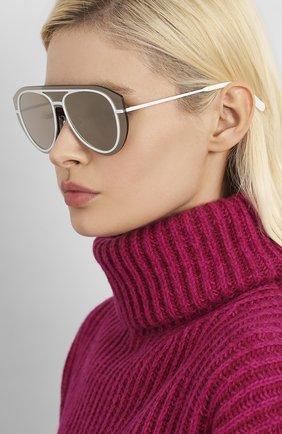 Мужские солнцезащитные очки KENZO белого цвета, арт. KZ40032U 21C | Фото 2