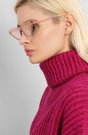 Мужские солнцезащитные очки KENZO розового цвета, арт. KZ40034U 73C | Фото 2