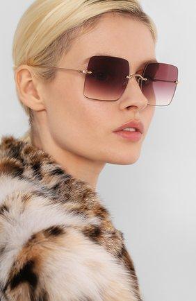 Женские солнцезащитные очки OLIVER PEOPLES бордового цвета, арт. 1268S-50378H | Фото 2