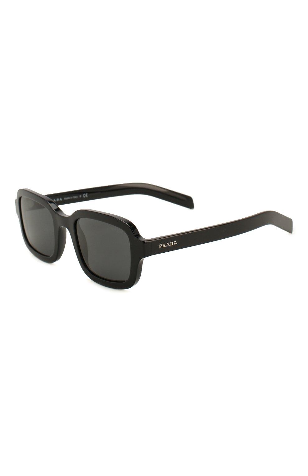 Женские солнцезащитные очки PRADA черного цвета, арт. 11XS-1AB5S0 | Фото 1