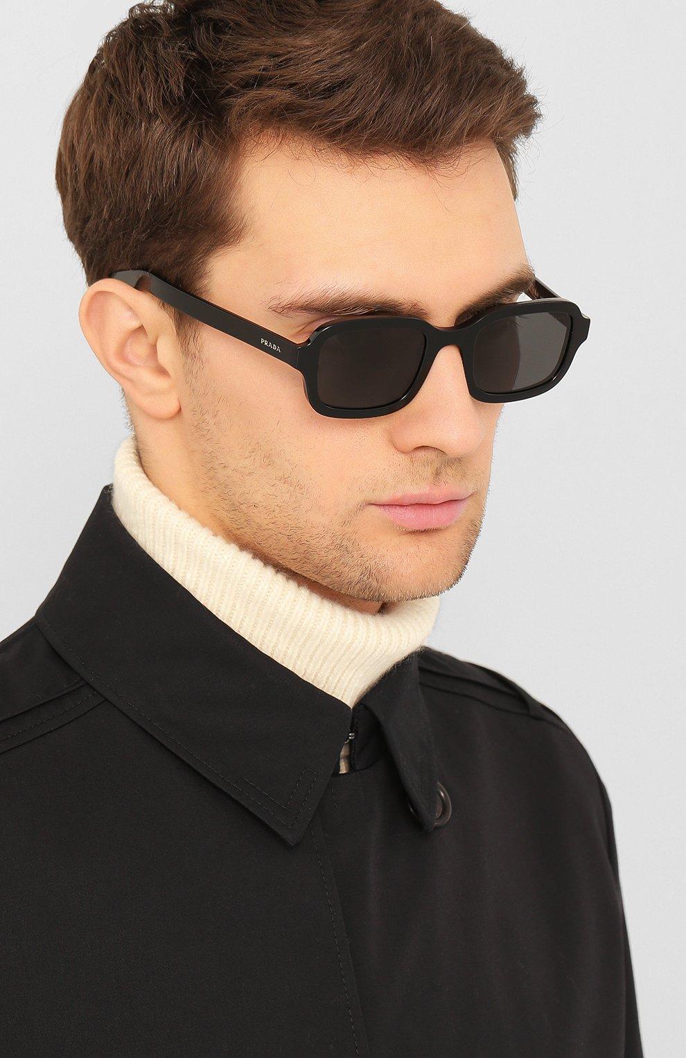 Женские солнцезащитные очки PRADA черного цвета, арт. 11XS-1AB5S0 | Фото 3