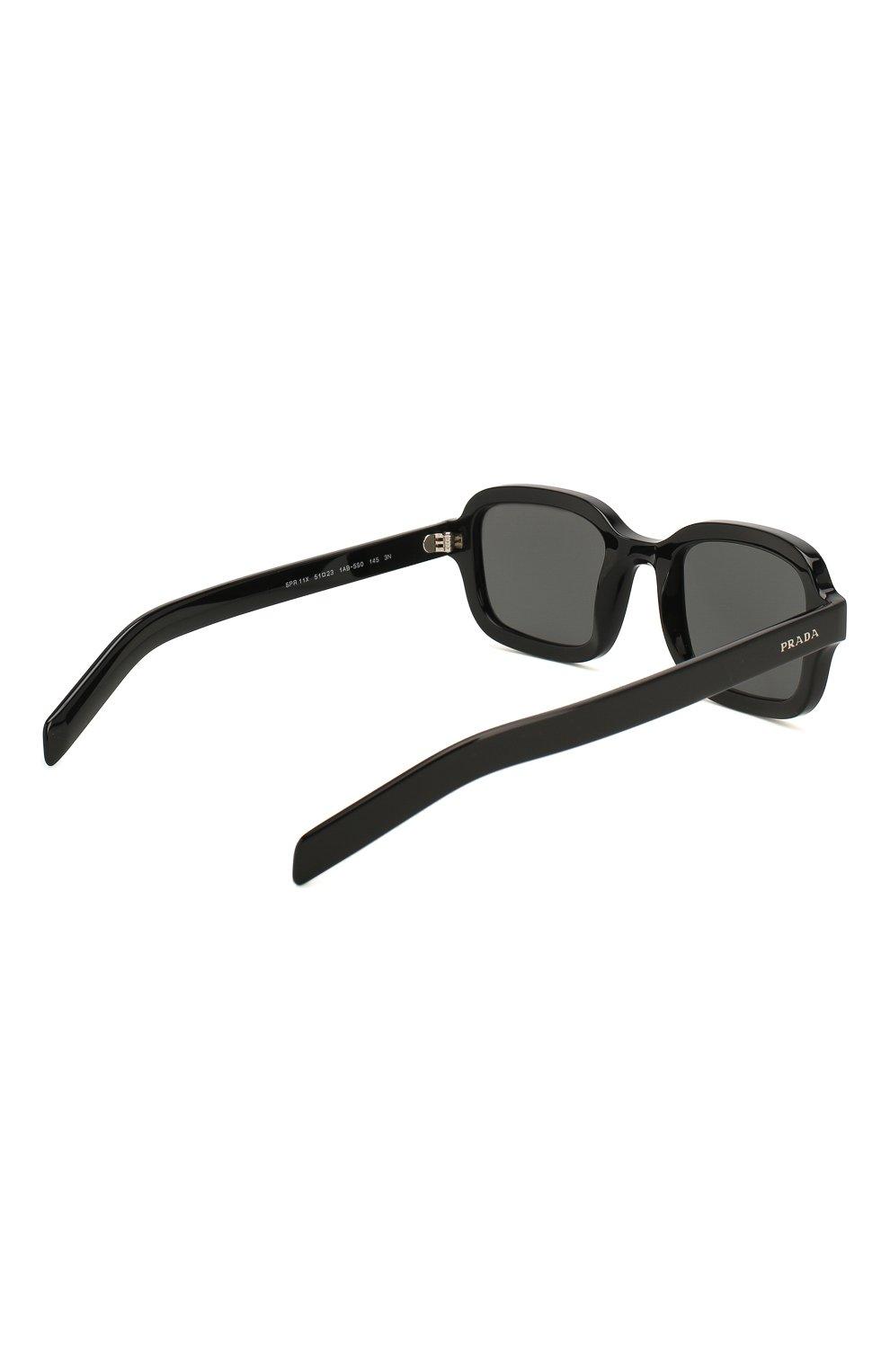 Женские солнцезащитные очки PRADA черного цвета, арт. 11XS-1AB5S0 | Фото 5