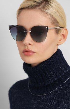 Женские солнцезащитные очки TIFFANY & CO. темно-синего цвета, арт. 3070-60019S | Фото 2
