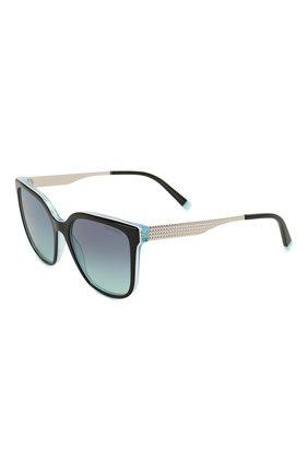 Женские солнцезащитные очки TIFFANY & CO. бирюзового цвета, арт. 4165-82749S | Фото 1