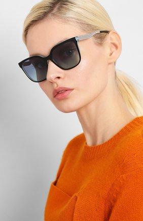 Женские солнцезащитные очки TIFFANY & CO. бирюзового цвета, арт. 4165-82749S | Фото 2