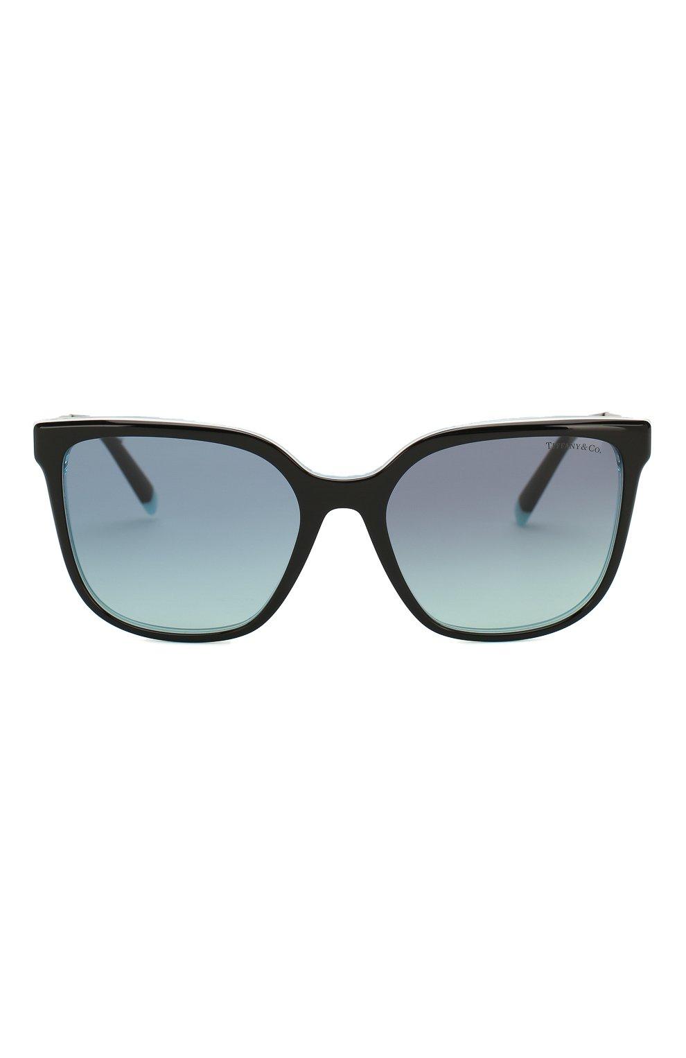 Женские солнцезащитные очки TIFFANY & CO. бирюзового цвета, арт. 4165-82749S | Фото 3