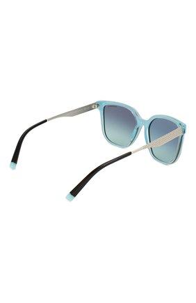 Женские солнцезащитные очки TIFFANY & CO. бирюзового цвета, арт. 4165-82749S | Фото 4
