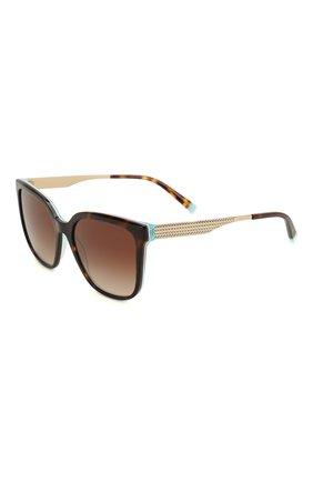 Женские солнцезащитные очки TIFFANY & CO. коричневого цвета, арт. 4165-82753B | Фото 1
