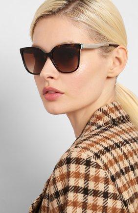 Женские солнцезащитные очки TIFFANY & CO. коричневого цвета, арт. 4165-82753B | Фото 2