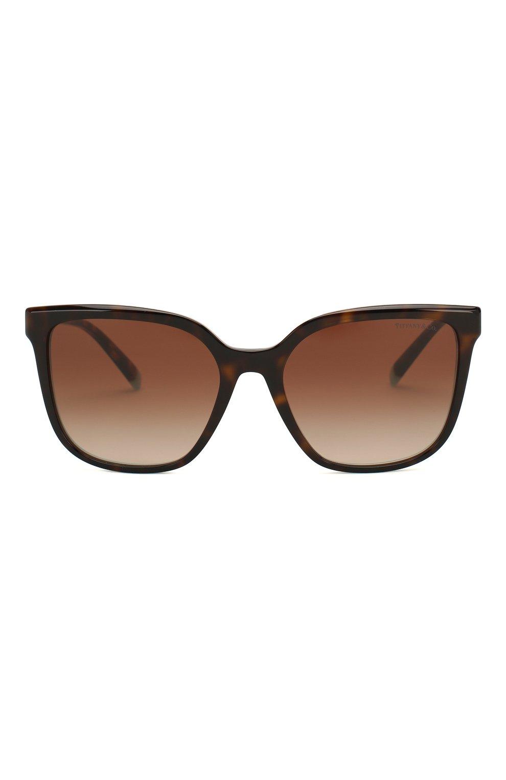 Женские солнцезащитные очки TIFFANY & CO. коричневого цвета, арт. 4165-82753B | Фото 3