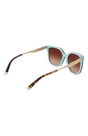 Женские солнцезащитные очки TIFFANY & CO. коричневого цвета, арт. 4165-82753B | Фото 4