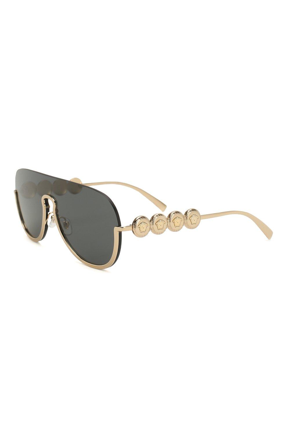 Женские солнцезащитные очки VERSACE золотого цвета, арт. 2215-100287   Фото 1