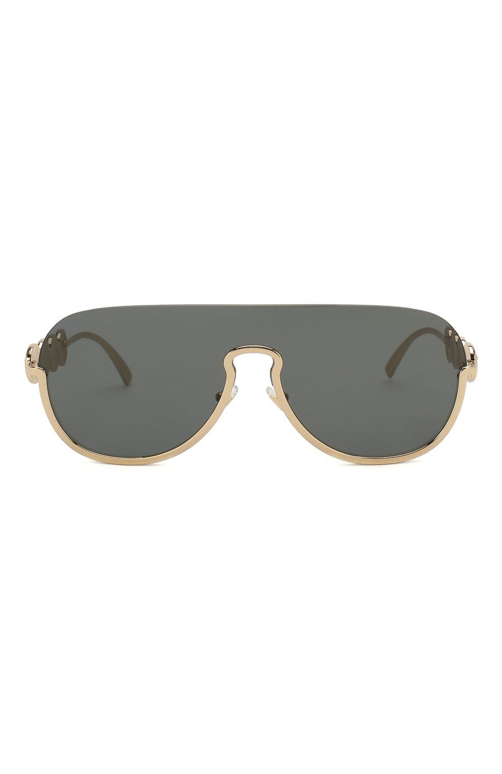 Женские солнцезащитные очки VERSACE золотого цвета, арт. 2215-100287   Фото 3