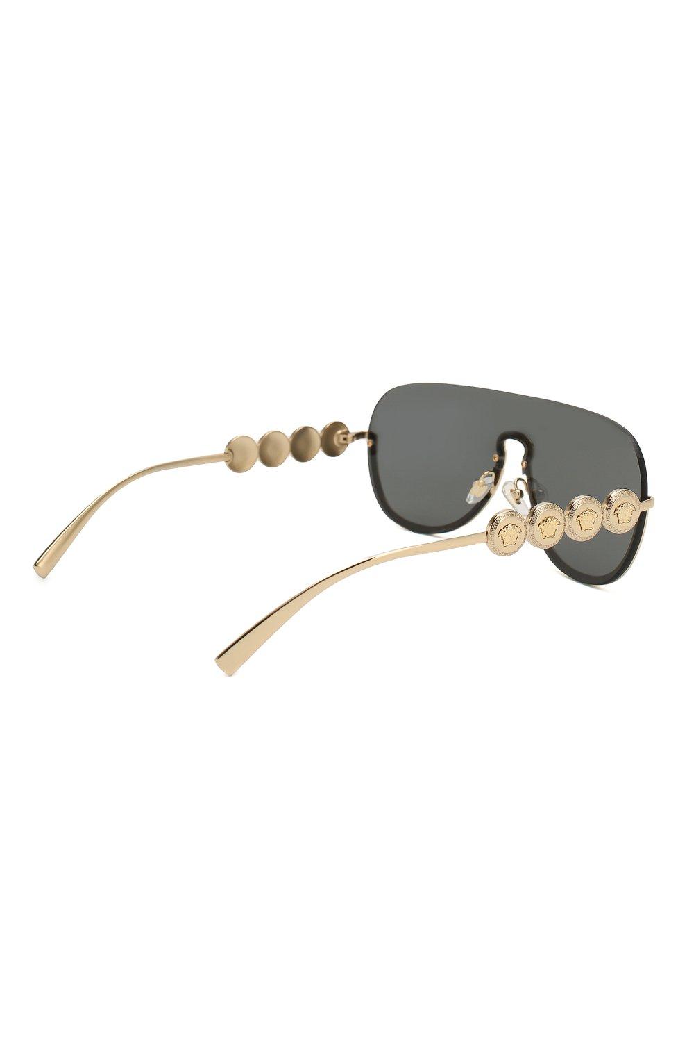 Женские солнцезащитные очки VERSACE золотого цвета, арт. 2215-100287   Фото 4