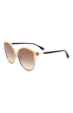 Мужские солнцезащитные очки FENDI бордового цвета, арт. 0395/F DDB | Фото 1