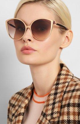 Мужские солнцезащитные очки FENDI бордового цвета, арт. 0395/F DDB | Фото 2