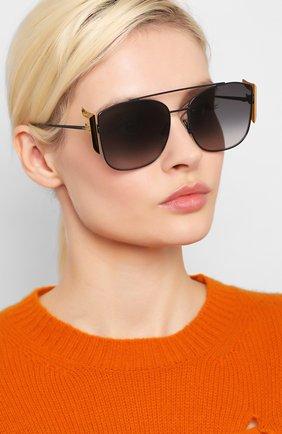 Женские солнцезащитные очки FENDI черного цвета, арт. 0380/G 807 | Фото 2