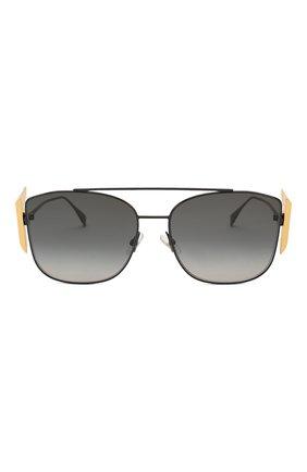 Женские солнцезащитные очки FENDI черного цвета, арт. 0380/G 807 | Фото 3