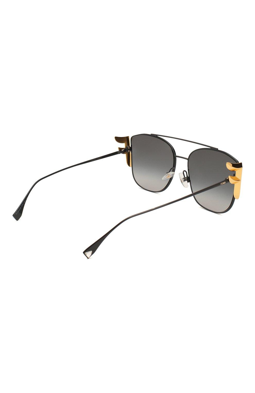 Женские солнцезащитные очки FENDI черного цвета, арт. 0380/G 807 | Фото 4