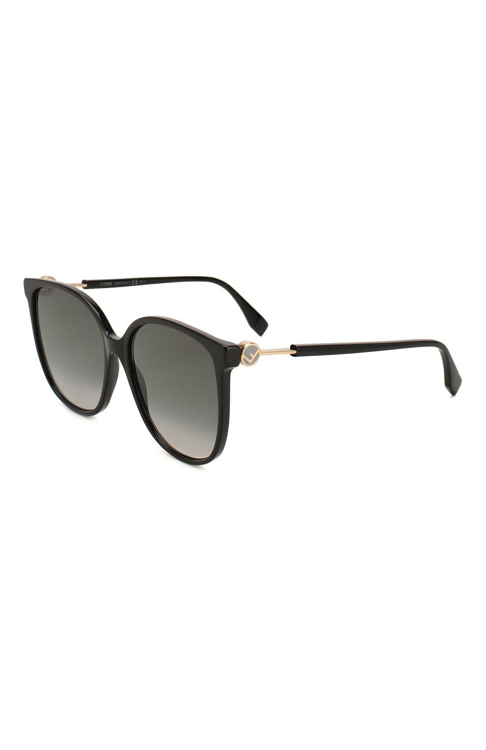 Женские солнцезащитные очки FENDI черного цвета, арт. 0374 807 | Фото 1