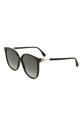 Мужские солнцезащитные очки FENDI черного цвета, арт. 0374 807 | Фото 1