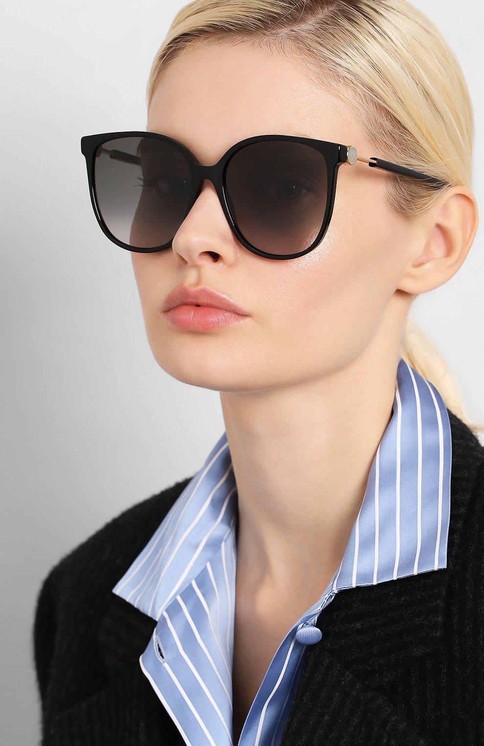 Женские солнцезащитные очки FENDI черного цвета, арт. 0374 807 | Фото 2