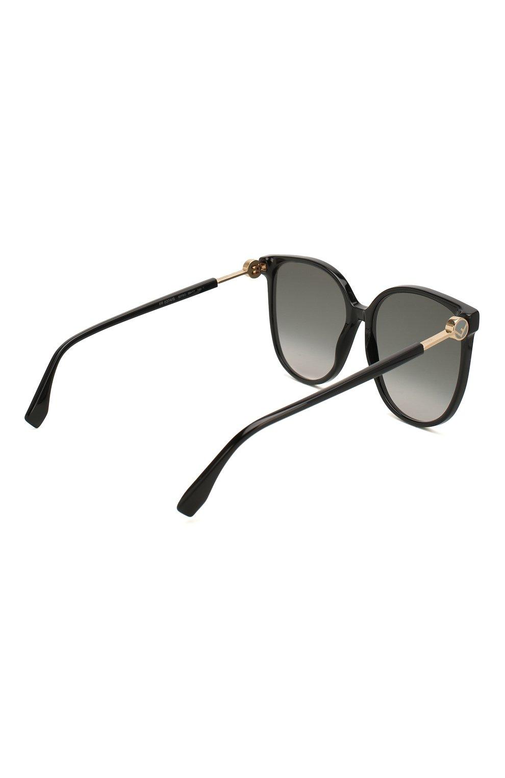 Женские солнцезащитные очки FENDI черного цвета, арт. 0374 807 | Фото 4