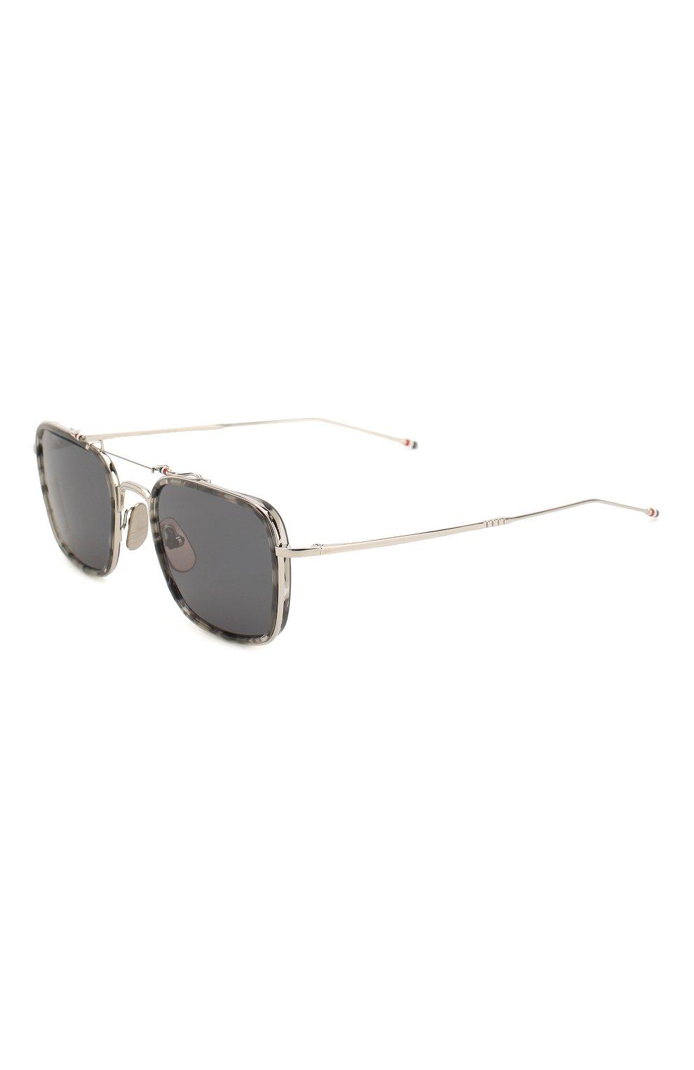 Женские солнцезащитные очки THOM BROWNE серебряного цвета, арт. TB-816-03 | Фото 1