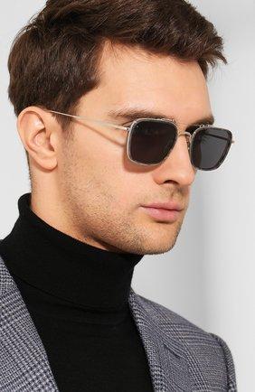 Женские солнцезащитные очки THOM BROWNE серебряного цвета, арт. TB-816-03 | Фото 3