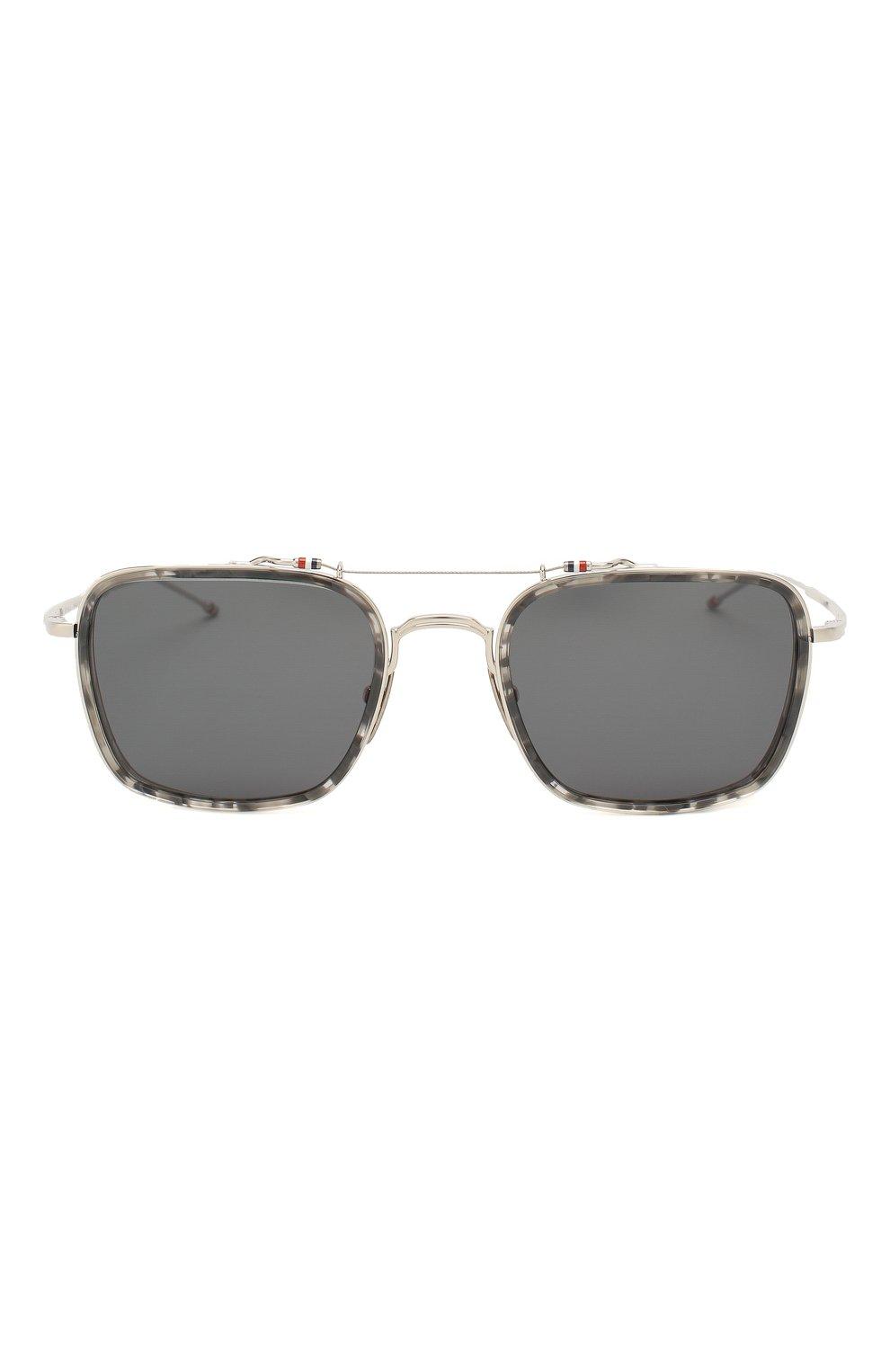 Женские солнцезащитные очки THOM BROWNE серебряного цвета, арт. TB-816-03 | Фото 4