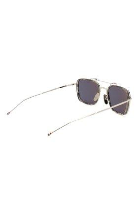 Женские солнцезащитные очки THOM BROWNE серебряного цвета, арт. TB-816-03 | Фото 5